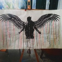 FALLEN, a painting by 0R13