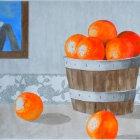 Still life with oranges, a painting by AFGuerrerro
