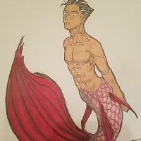 Merman, a drawing by art_le_fabu