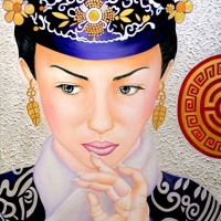 MIRADA DE CHINA, a painting by Carmen Junyent