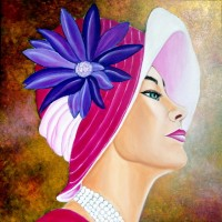 MIRADA DE GLAMOUR-1, a painting by Carmen Junyent