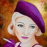 MIRADA DE GLAMOUR-3, a painting by Carmen Junyent