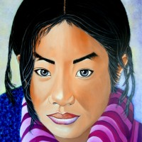 MIRADA DEL TIBET-3, a painting by Carmen Junyent