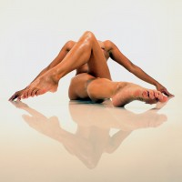 Nude water reflection, a photo by contemporaryart