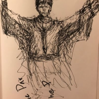 Confidence Pope, a drawing by davidpatrickdennis