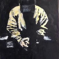 Sitting Down, a painting by Dominique Dève
