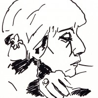 Visage 3, a drawing by Dominique Dève