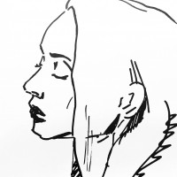 Visage 4, a drawing by Dominique Dève