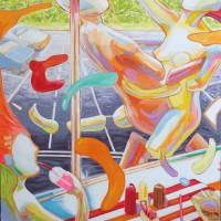 Fast food , a painting by John Hogan