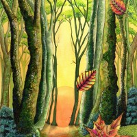 Autum Forest, a painting by Lynne Henderson
