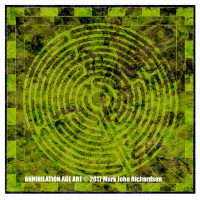 Design for Art Card 7 - Medieval Labyrinth, a drawing by MarkAAA