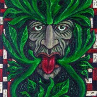 Design for 'Green Man' Art Card 1, a painting by MarkAAA