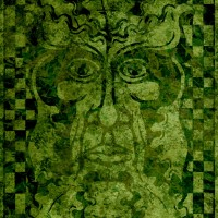 Design for 'Green Man' Art Card 3, a drawing by MarkAAA
