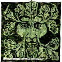 Design for 'Green Man' Art Card 6, a drawing by MarkAAA