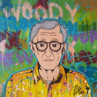 Woody, a painting by Mauro H. Vázquez