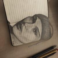 Réal , a drawing by Mina