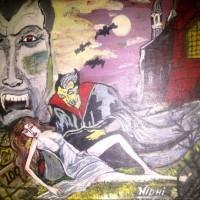 Dracula series, a painting by Nidhi Singh