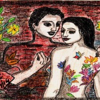Love n Nature, a painting by Nidhi Singh