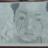 Child Abuse, a drawing by Olowoyo Ayomide Ezekiel