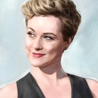 Evan Rachel Wood, a painting by Ovi