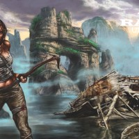 Lara Croft, a painting by Ovi