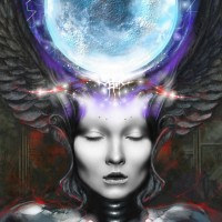 Moon Goddess, a painting by Ovi