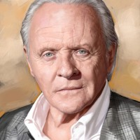 Sir Anthony Hopkins, a painting by Ovi