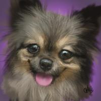 Dog portrait 2, a painting by riccardochucky