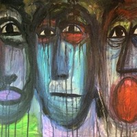cry1, a painting by samaneh atef