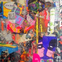 FITMAN on BATMAN (a painting for silent bob), a painting by StanleyBellArtist