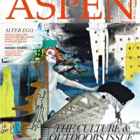 Painting used as cover for Aspen Magazines mid summer issue 2016, a print by StanleyBellArtist