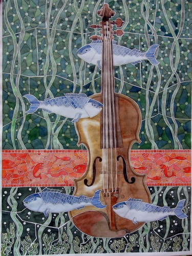 Marine music, a painting by AFGuerrerro