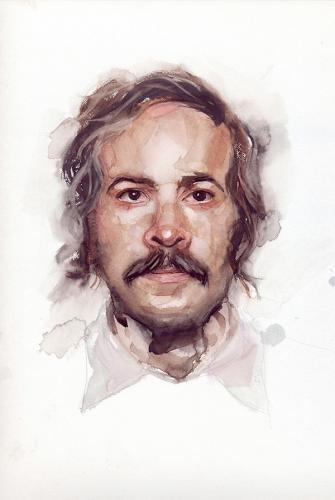Portrait - Joe, a drawing by anastasialisich