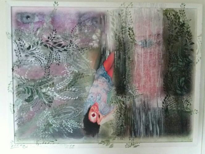I tuoi occhi su di me, a painting by Antonella De Pascale