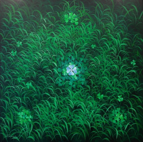 AND IF THE LUCK IS BLUE, a painting by art-ramce