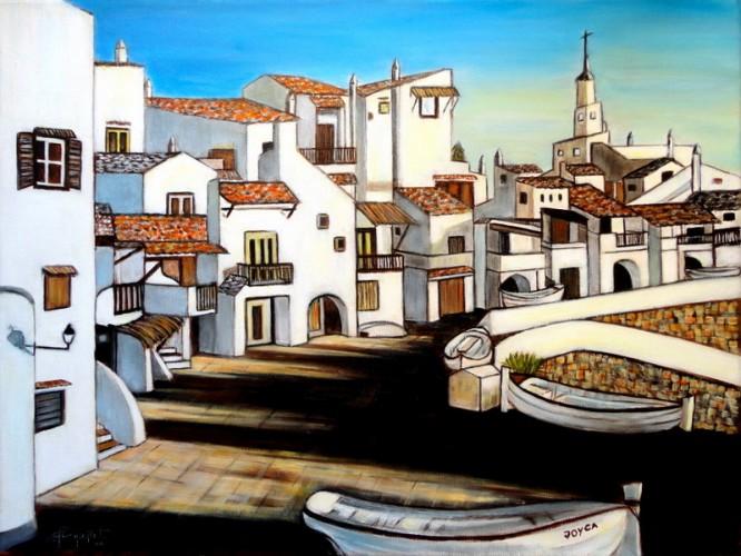 BINIBECA (Menorca), a painting by Carmen Junyent