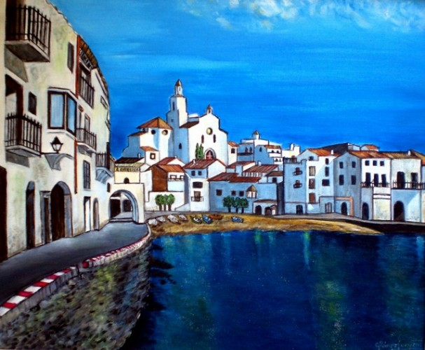 CADAQUÉS (Girona), a painting by Carmen Junyent