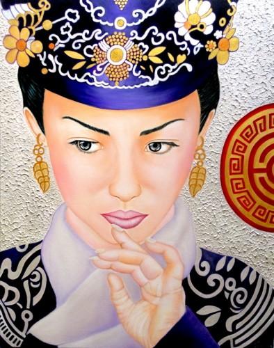 MIRADA DE CHINA, a painting by Carmen Junyent