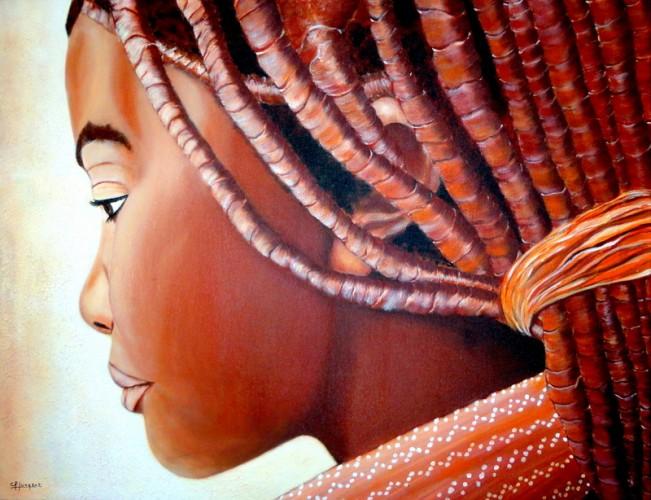 MIRADA DE NAMIBIA, a painting by Carmen Junyent