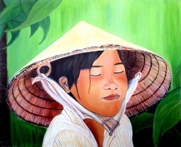 MIRADA INTERIOR, a painting by Carmen Junyent