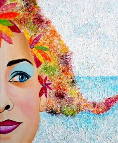 SOY LA PRIMAVERA-1, a painting by Carmen Junyent