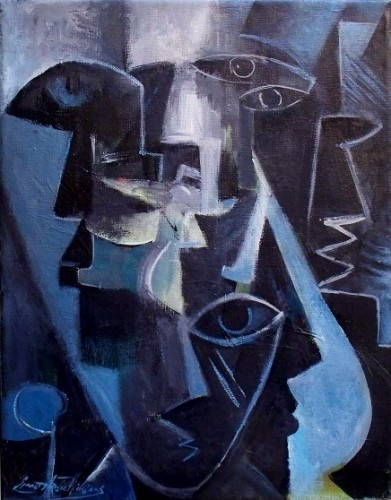The Cubist, a painting by CubistMan
