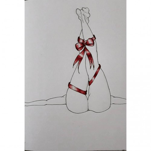 Gift, a drawing by Deepti