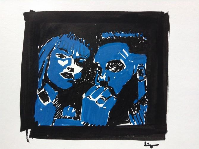 Black Light, a drawing by Dominique Dève