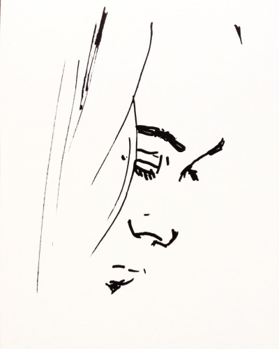 Visage 1, a drawing by Dominique Dève