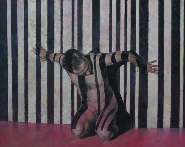 Barcode: Pinned to the Wall, a painting by Glenn Ibbitson