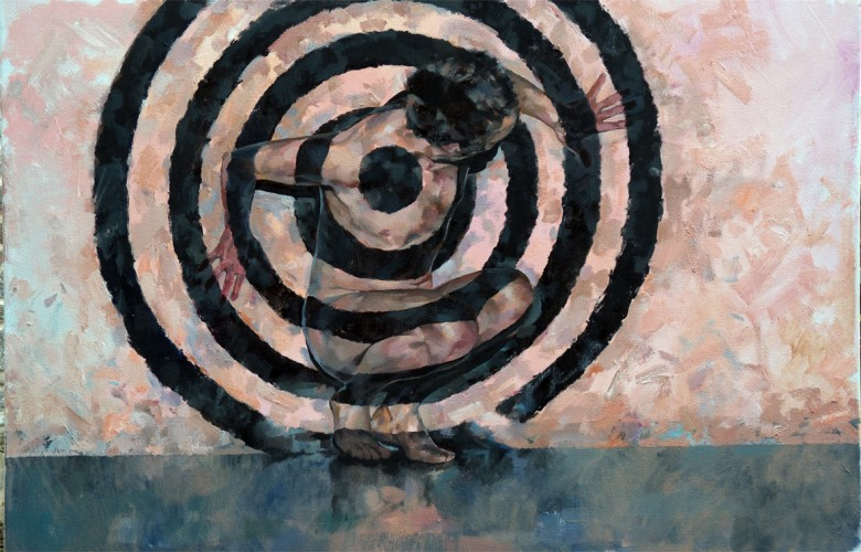 Target: Seen and not Seen, a painting by Glenn Ibbitson
