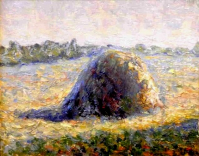 Hay stack, a painting by Ivan Titkow