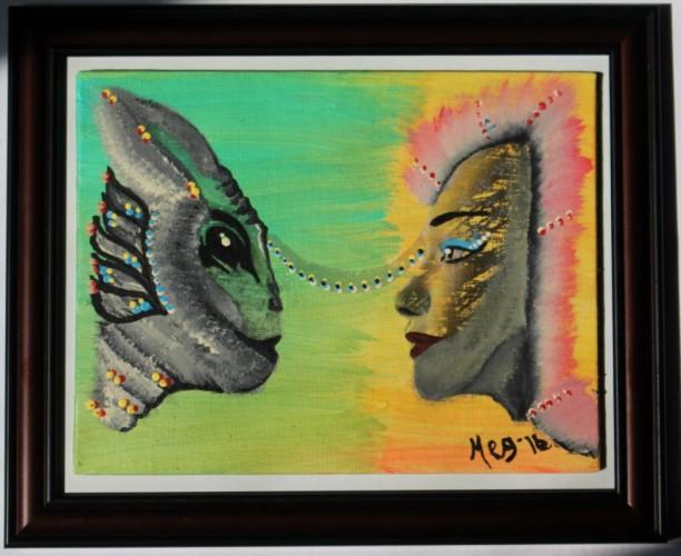 Voir l'autre avec ses différences, a painting by meggovrofisetartiste