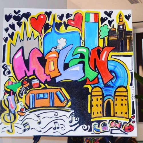 Milano ❤️, a painting by Milena Quercioli Artist